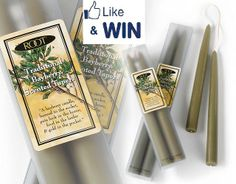 """""""Like"""" to Win! It's Day 9 of our 12 Days of Christmas celebration! """"On the ninth day of Christmas, my true love gave to me..."""" Like this post on our Facebook page https://www.facebook.com/rootcandles and be entered to win a pack of 9 inch Bayberry taper candles! We're picking 5 lucky fans to win today!"""