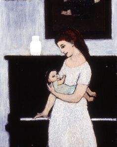 Interior with Mother and Child - Brian Kershisnik
