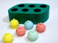 Molde de Silicone Mini cup cakes com cereja 6 cavidades- Arte de Modelar