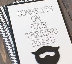 A terrific card for your terrific guy.