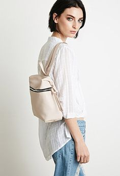 Pebbled Faux Leather Backpack | Forever 21 - 1000077511