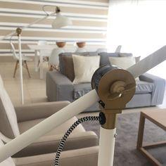 Algarve, Resort Decor, Stripes Interior Design, Sofa, bench, Clean, Fresh, Decoration, Decor, Eames Chairs, Living room, Dining room, grey, bege and white - Isabel Pires de Lima