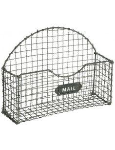 Grey Mail Basket
