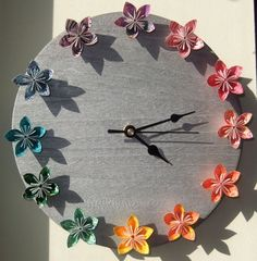 Beautiful Handmade Butterfly Clock Handmademothersdaygiftideas
