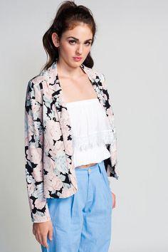 ++ floral blazer
