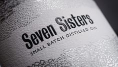 Seven Sisters Gin by Rathfinny Estate Label designed by Utile.studio and proudly printed by Multi-Color England.