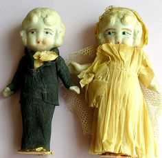 I Do, vintage frozen Charlote and Charlie, bride and groom.