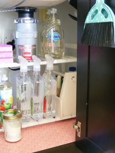 PINK Shelf Liner and One more Organized Cabinet!