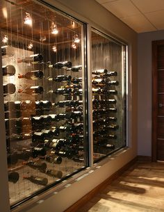 modern wine cellar cable wine system 1