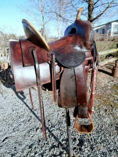 Vintage highback F.T. Wesselink saddle from Jamestown, CA.