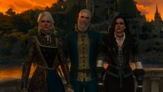 Witcher family in Toussaint by BothFawn