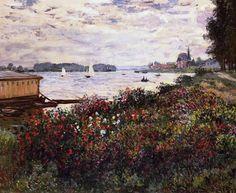 Riverbank at Argenteuil - Claude Monet 1877