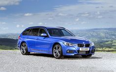 Download wallpapers BMW 3-series Touring, wagons, F31, blue bmw, german, cars, BMW