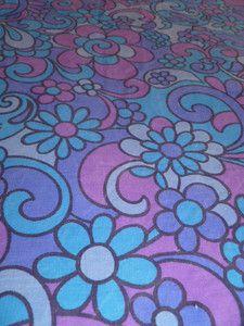 1960's Flower Power Fabric