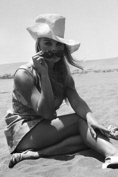 Elke Sommer in Almeria, Spain, 1968. See 51 more rare, vintage photos of celebrities enjoying summer.
