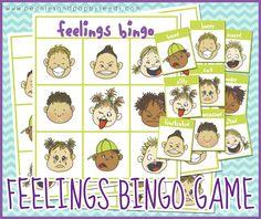 Free Printable Bingo Game about Feelings. Perfect for preschool, kindergarten, or special needs classrooms. Emotions Game, Feelings Games, Emotions Activities, Feelings And Emotions, Therapy Activities, Teaching Emotions, Therapy Ideas, Feelings Preschool, Free Preschool