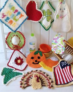 Picture of Holiday Dishcloth Set Crochet Pattern