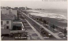 Praia de Ipanema inicio dos anos 1950, Rio de Janeiro, Brasil