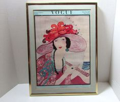 Vintage The Vogue Company 1919 Magazine Cover Poster 16.5 x 12.5 Framed in Art, Art from Dealers & Resellers, Posters | eBay