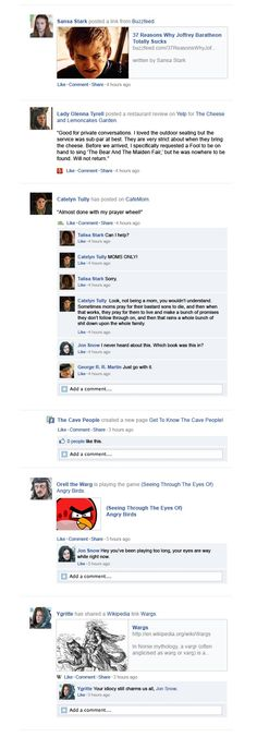 "If ""Game of Thrones"" Happened on Facebook"