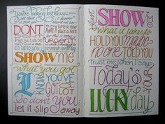 Fun Art Journal Lettering - I wish I was crsfty like this! Doodle Lettering, Creative Lettering, Lettering Styles, Smash Book, Art Journal Pages, Art Journaling, Schrift Design, Lucky Day, Calligraphy Letters