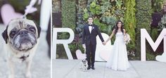 Giant letters!!! (And the dog!) A Whimsical Wedding at the Smog Shoppe in Los Angeles: Michelle + Ryan