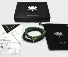 SET CADOU 2 BRATARI VERDE NEGRU CHARM CORONITA Personalized Items, Club, Style, Corona, Green, Swag