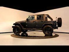 2010 Matte Black Jeep Wrangler Unlimited