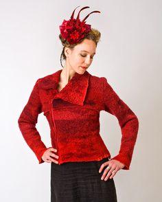 "Funk Shui Felt Clothing Design - ""Starflower"" jacket and hair piece, 2008."