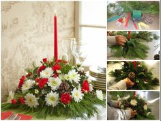 Learn how to make a DIY #Christmas centerpiece in easy to follow steps from one of our #flower experts! Click here to view the blog post: http://www.1800flowers.com/blog/floral-occasions-holidays/how-to-make-a-diy-christmas-centerpiece/ #ChristmasCenterpieces #DIYChristmas