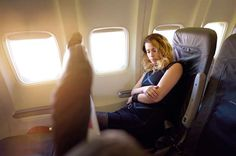 What Really Happens to Your Body on an Airplane:     LOATING AND GAS  -    These are a direct result from constipation. The inability to empty the bowels and bloated belly usually go hand in hand, research has shown. Make sure you get enough fiber in you – 25 grams a day for adult women and 30 to 38 for adult men. High fiber foods include oatmeal, raspberries, almonds, apples, green vegetables. Drink water often and stay active to avoid constipation.