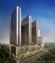 Condominium Architecture, Architecture Visualization, Futuristic Architecture, Residential Architecture, Amazing Architecture, Architecture Design, Building Facade, Building Design, Future Buildings