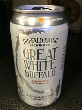 Great White Buffalo Belgian Style Withier Craft Brew Beer Can