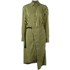 Christian Wijnants 'Dont' striped dress ($735) ❤ liked on Polyvore featuring dresses, black, print dress, pattern dress, stripe dresses, mixed print dress and christian wijnants