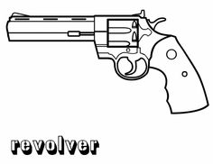 Delightful Gun Coloring Pages
