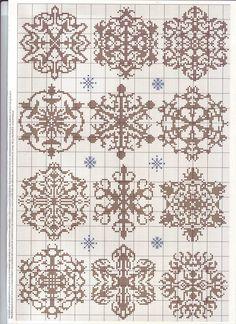 Cross Stitch snowflakes