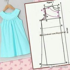 Sewing clothes easy baby gifts Ideas - Her Crochet Baby Girl Dress Patterns, Baby Dress Design, Baby Clothes Patterns, Dresses Kids Girl, Dress Sewing Patterns, Clothing Patterns, Kids Outfits, Frock Design, Fashion Sewing