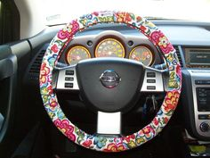 Vera Bradley!Designer Inspired Steering Wheel Cover by mammajane on Etsy