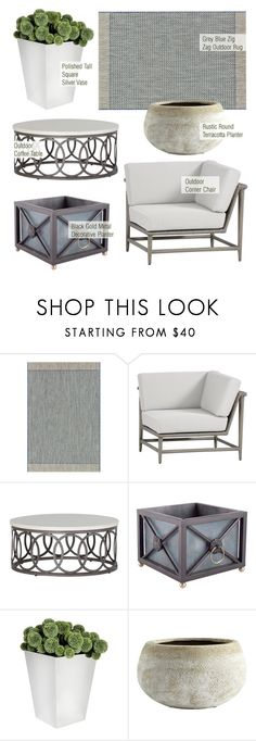 Outdoor Decor by kathykuohome on Polyvore featuring interior, interiors, interior design, home, home decor, interior decorating, outdoors and outdoorliving