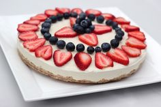 Vegan Cheesecake For 4th Of July