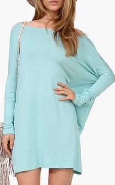 Basic Spring Dress in Mint