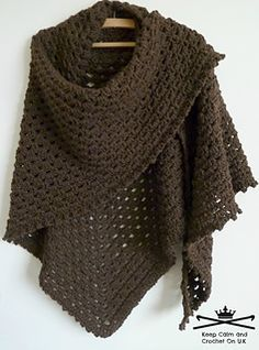 This healing/prayer shawl has been designed as a free pattern so others can make a hug for someone in need; however if you would like to pass on the couple of pounds/dollars you would have paid for this pattern to Cancer Research then that would make you even more awesome! ~ free pattern ᛡ