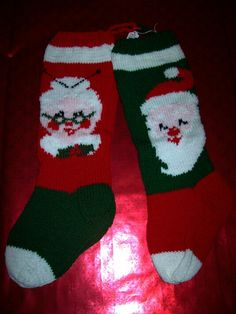 Santa and Mrs. Claus stockings