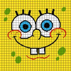 SpongeBob+SquarePants+(Chart/Graph+AND+Row-by-Row+Written+Crochet+Instructions)+–+01
