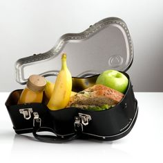 Carry your lunch like a rock star with this hardcore metal Guitar Case Lunch Box. Available at oddgifts.com