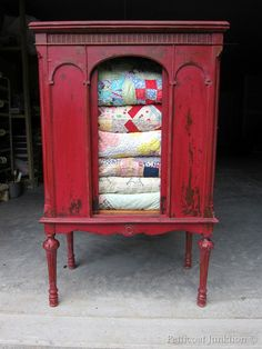 Painted Furniture, Painted cabinet using Miss Mustard Seed's Milk Paint in Tricycle, Petticoat Junktion