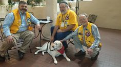 Lions Club members with Leader Dog. Photo courtesy of Leader Dogs for the Blind.