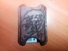leather cardholder hand made