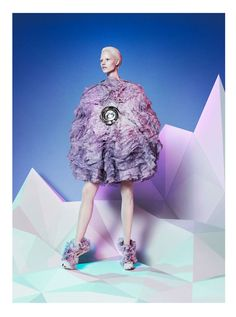 Alexander McQueen's Autumn Winter campaign, 2012. Model Suvi Koponen, photographer David Sims.