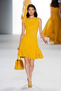 yellow - short Ellie Saab